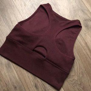 Betsey Johnson Intimates & Sleepwear - Betsey Johnson Ribbed sports bra in bordeaux